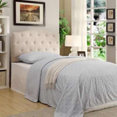 Twin Button Tufted Linen Tufted Headboard