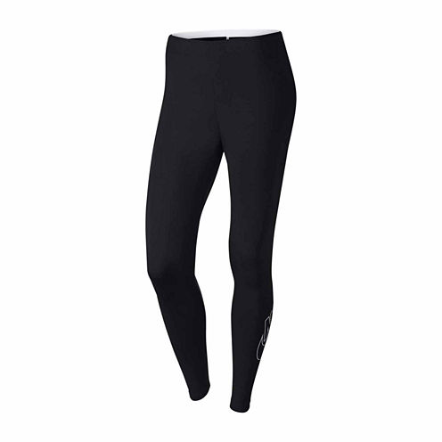 Nike Logo Cotton Blend Leggings