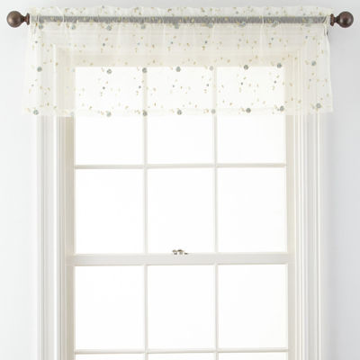 Spring Blossom Rod-Pocket Tailored Valance