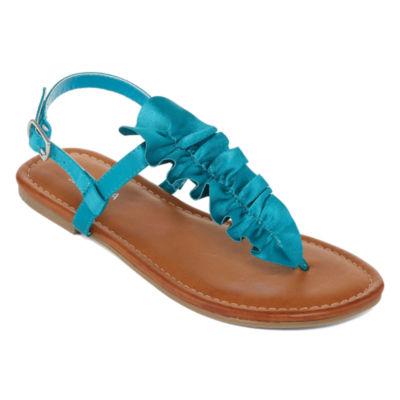Arizona Womens Geneva Adjustable Strap Flat Sandals