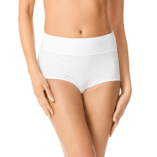 Warner's No Pinching. No Problems.® Lace-Trim Brief Panty RS7401P