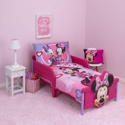 Disney Minnie Mouse Hearts And Bows 4-pc. Toddler Bedding Set
