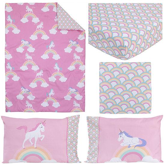 Little Tikes Rainbows And Unicorns 4-pc. Toddler Bedding Set