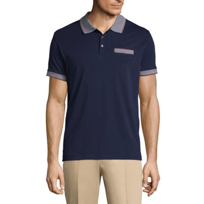 Claiborne Short Sleeve Knit Polo Shirt