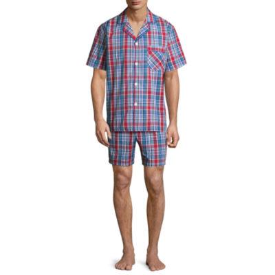 Stafford Men's Notch Collar Short Sleeve/ Short Leg Pajama Set - Big and Tall