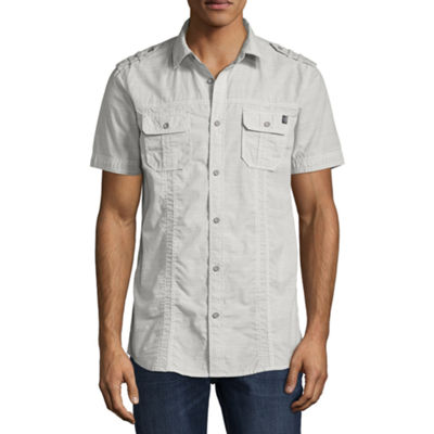 i jeans by Buffalo Short Sleeve Button-Front Shirt