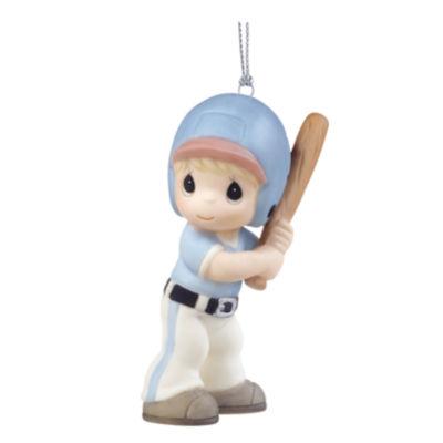 "Precious Moments  ""Little Slugger""  PorcelainBaseball Player Ornament  Boy #161040"