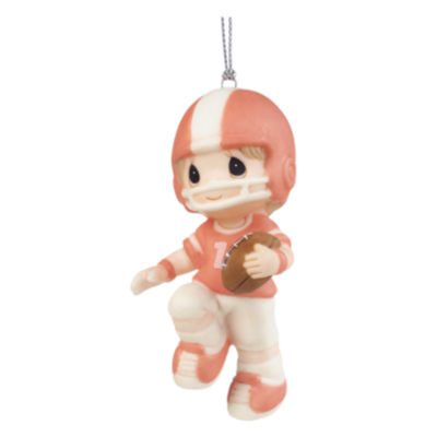 """Precious Moments  """"You're My First Pick""""  Porcelain Football Player Ornament  #161042"""