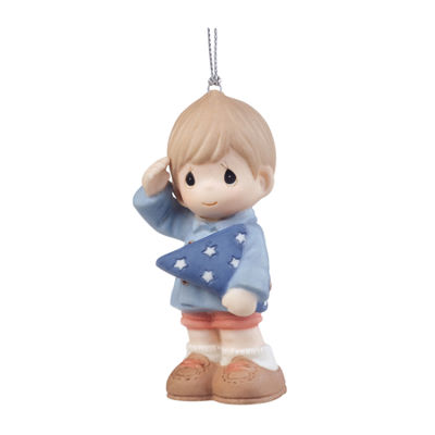 "Precious Moments  ""You're My Hero""  PorcelainOrnament  Boy  #161065"