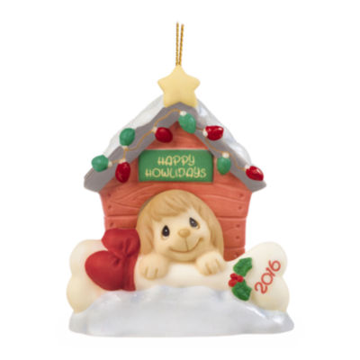 "Precious Moments  ""Home For The Howlidays""  Dated 2016  Bisque Porcelain Ornament  #161008"