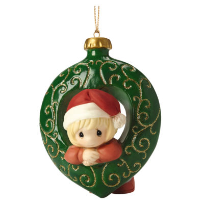 """Precious Moments  """"You Fill My Heart""""  Girl  Bisque Porcelain Ornament  #161028"""