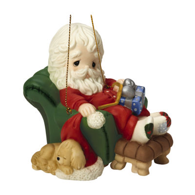 "Precious Moments  ""And To All A GoodnNight""  8th in Annual Santa Series  Porcelain Ornament  #161031"