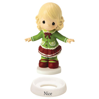 "Precious Moments  ""Naughty And Nice""  Girl  Bisque Porcelain Figurine  #161024"