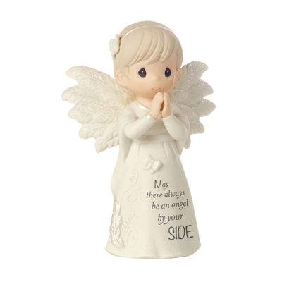 "Precious Moments  ""May There Always Be An AngelBy Your Side""  Bisque Porcelain Figurine  #161062"