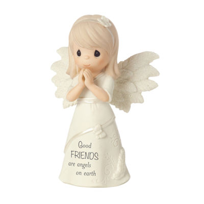 "Precious Moments  ""Good Friends Are Angels On Earth""  Bisque Porcelain Figurine  #161063"