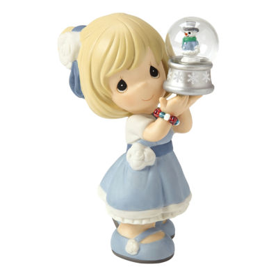 "Precious Moments  ""May Your Christmas Be FilledWith Wonder""  Bisque Porcelain Figurine  #161023"