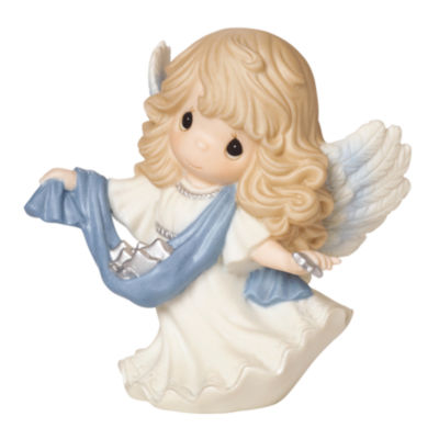 "Precious Moments  ""Guide Us To Thy Perfect Light""  6th in Annual Angel Series  Bisque PorcelainFigurine  #161034"