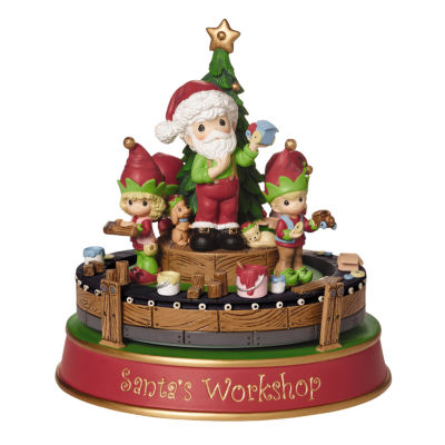 "Precious Moments  ""Santa's Workshop Deluxe MusicBox""  Resin Figurine  #161107"