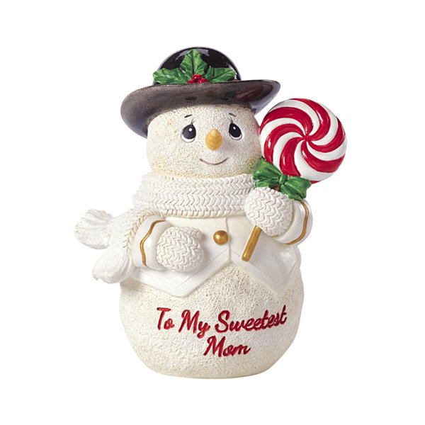 "Precious Moments  ""To My Sweetest Mom""  Snowman  Resin Figurine  #161411"