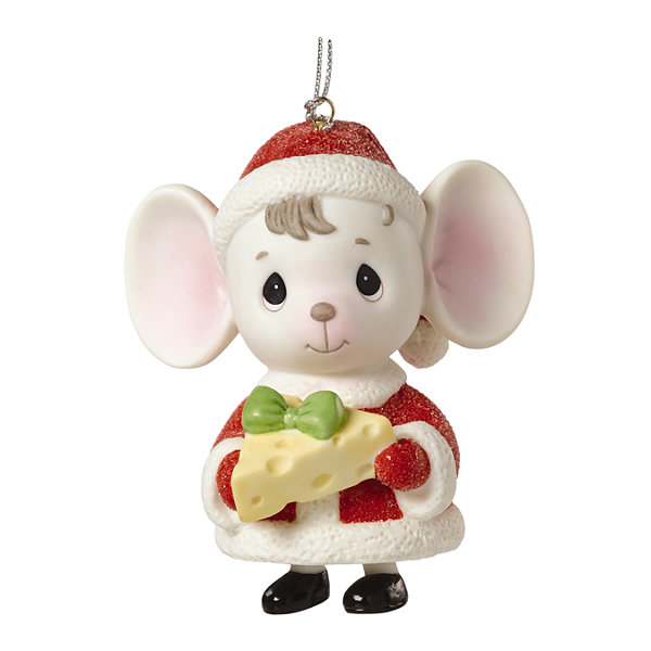 "Precious Moments  ""The Holidays Are Mice With You""  Mouse with Cheese  Porcelain Bell Ornament#161047"