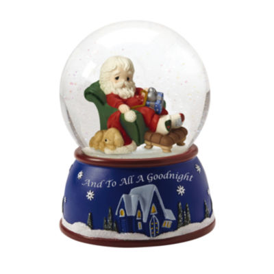 "Precious Moments  ""And To All A Goodnight""  Plays We Wish You A Merry Christmas  Musical Snow Globe  #161103"