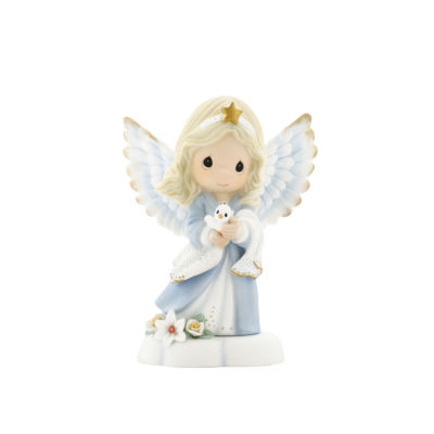 """Precious Moments  """"In The Radiance Of Heaven's Light""""  Bisque Porcelain Figurine  Angel  #930012"""