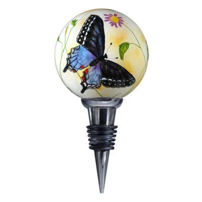 """Ne'Qwa Art  """"Blue Butterflies""""  Artist PaulBrent  Wine Stopper  #7000853"""