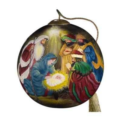"Ne'Qwa Art  ""Three Kings"" Artist Stewart Sherwood  Round-Shaped Glass Ornament  #7000268"