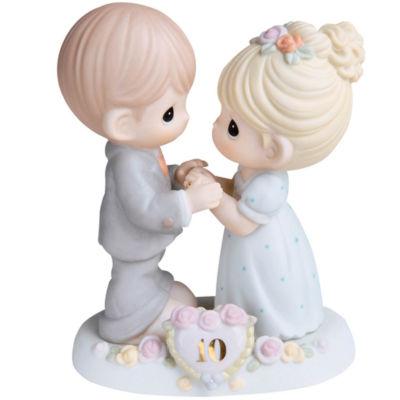 "Precious Moments  ""A Decade Of Dreams Come True- 10th Anniversary""  Bisque Porcelain Figurine#730007"