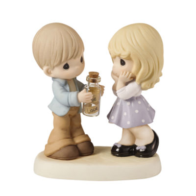 """Precious Moments  """"Sending All My Love To You""""Bisque Porcelain Figurine  #159024"""