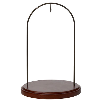 "Ne'Qwa Art  ""Walnut Finish Large Hanging StandWood and Metal Stand  #7000006"