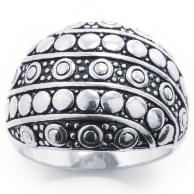 Sparkle Allure Sparkle Allure Womens Silver Over Brass Cocktail Ring