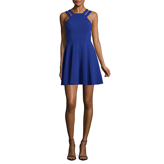 B. Darlin Sleeveless Skater Dress-Juniors