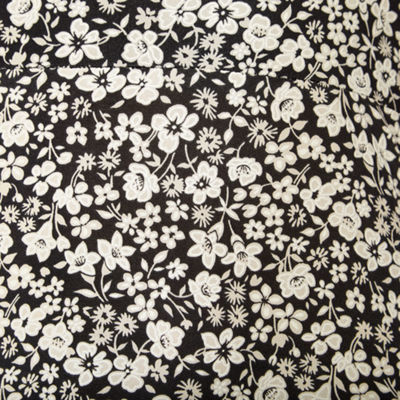 Perceptions Short Sleeve Puff Print Floral Fit & Flare Dress