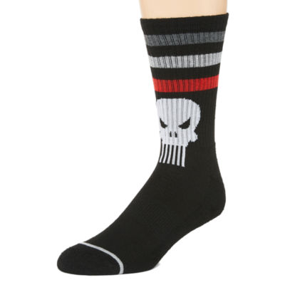 Novelty Socks 1 Pair Punisher Crew Socks-Mens