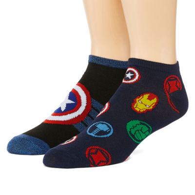 Marvel Novelty Socks 2 Pair Low Cut Socks-Mens