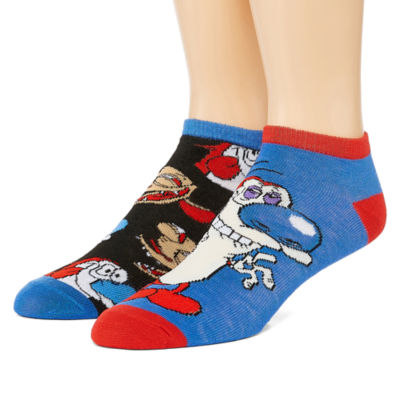 Nickelodeon Novelty Socks 2 Pair Low Cut Socks-Mens