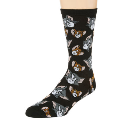 Warner Bros Novelty Socks 1 Pair Crew Socks-Mens