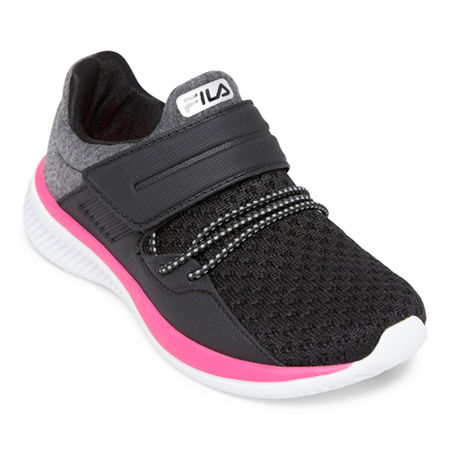 Fila Fondato 2 Girls Running Shoes - Little Kids, 2 Medium, Gray
