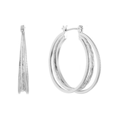Gloria Vanderbilt Brass 34.3mm Hoop Earrings