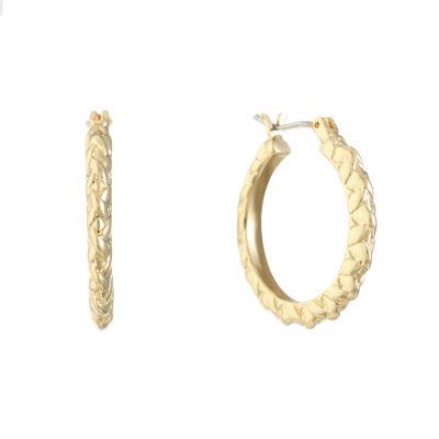 Gloria Vanderbilt Brass 23.6mm Hoop Earrings