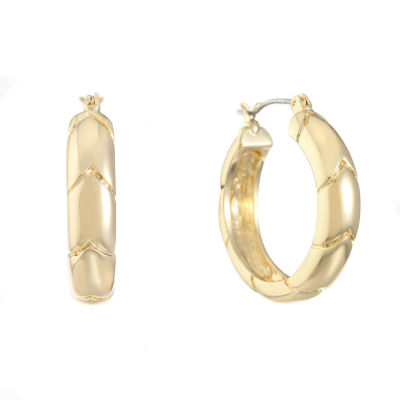 Gloria Vanderbilt Brass 27.8mm Hoop Earrings