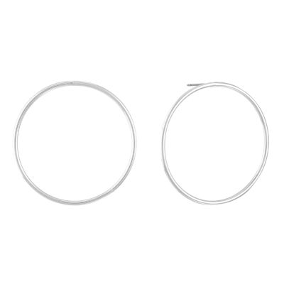 Gloria Vanderbilt Brass 48mm Hoop Earrings