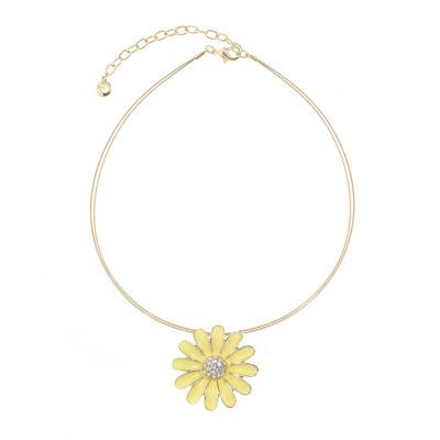 Gloria Vanderbilt Womens Brass Pendant Necklace