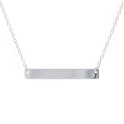 "Silver Treasures Womens ""Unstoppable"" Pendant Necklace"