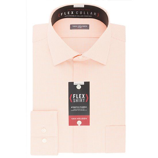 Van Heusen Flex Collar Big And Tall Mens Spread Collar Long Sleeve Stretch Dress Shirt