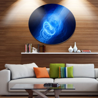 Designart New Plasma Weapon in Space Disc Large Abstract Large Metal Circle Wall Art