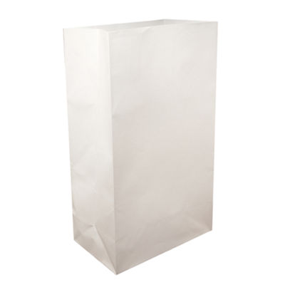 Flame Resistant Luminaria Bags- White Set of 100
