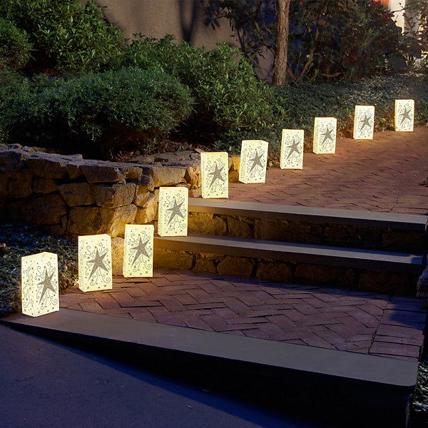 Plastic Luminaria Lanterns- Set of 12