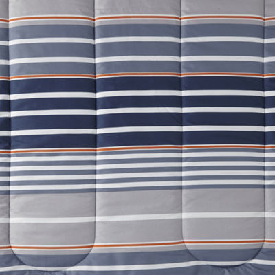 Home Expressions Kingston Stripes Complete Bedding Set with Sheets